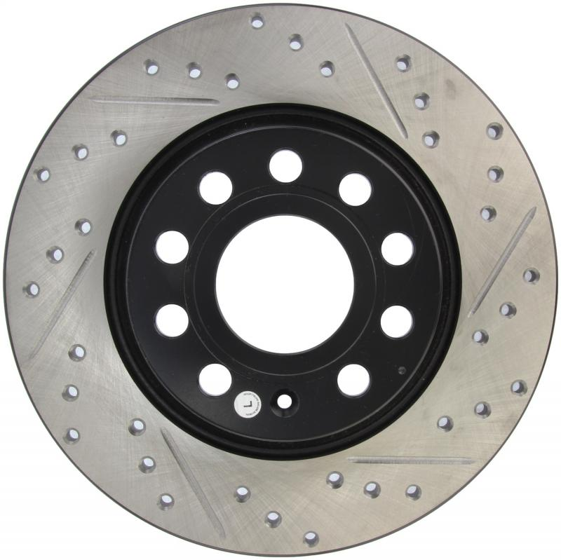 StopTech 127.33099L Sport Drilled/Slotted Brake Rotor; Rear Left Rear Left