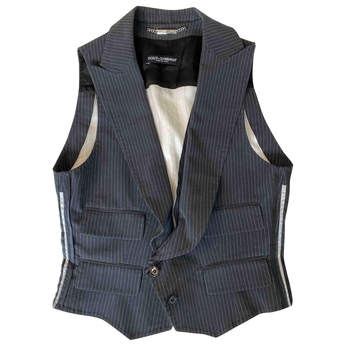 Dolce & Gabbana - Veste   pour femme en coton - anthracite