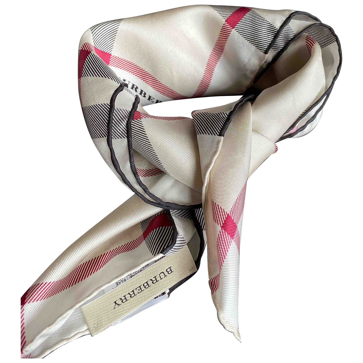 Burberry \N Beige Silk scarf for Women \N