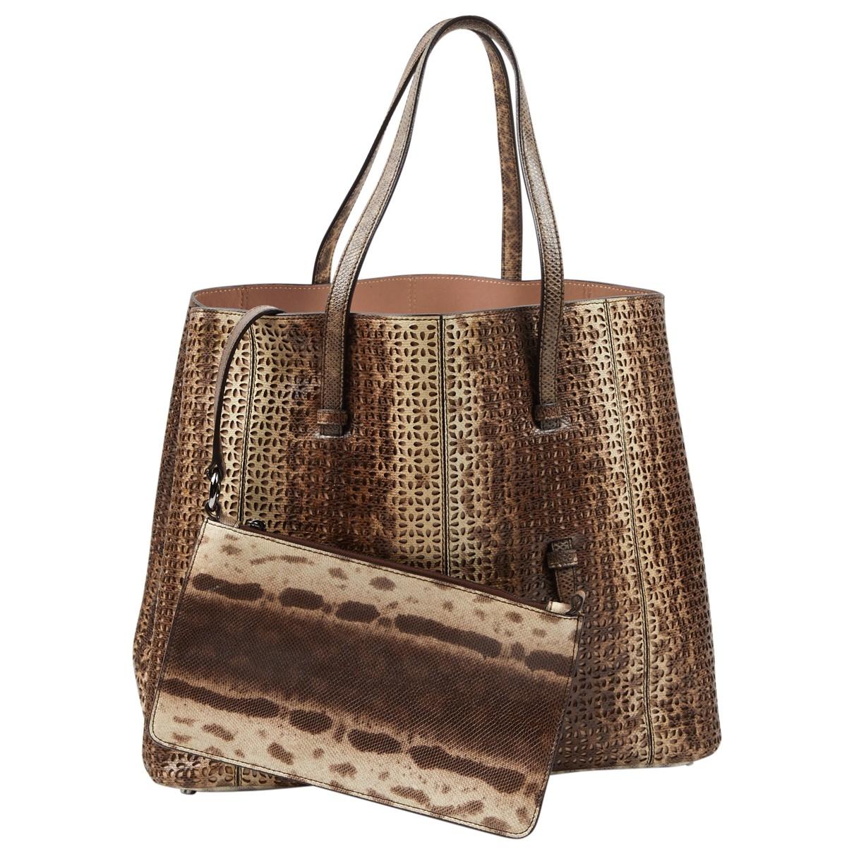 Alaïa \N Brown Leather handbag for Women \N