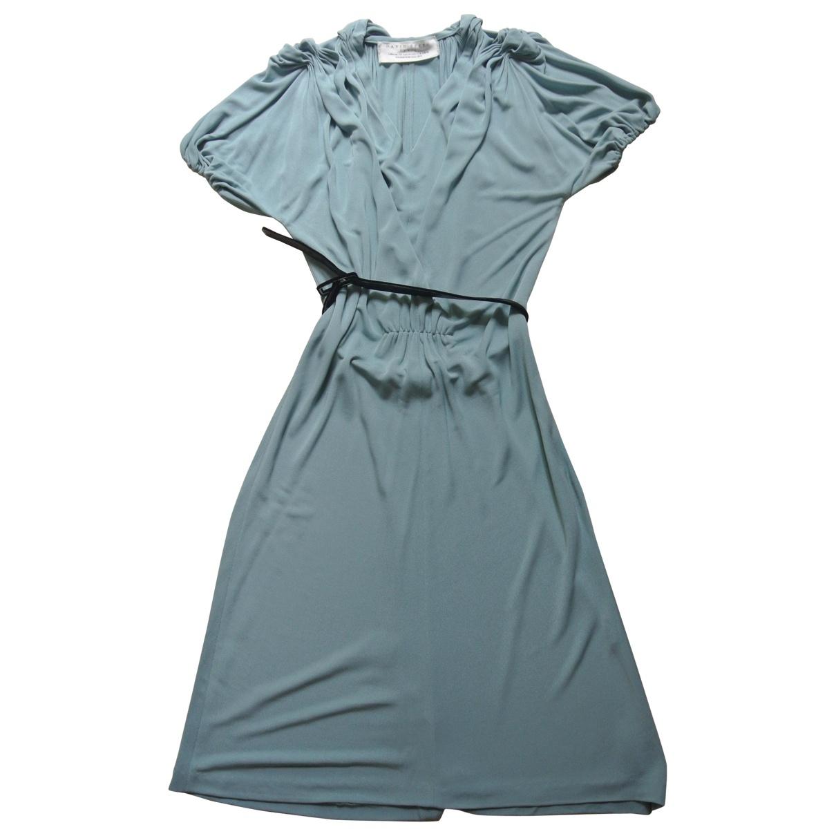 Vestido en Viscosa Azul David Szeto