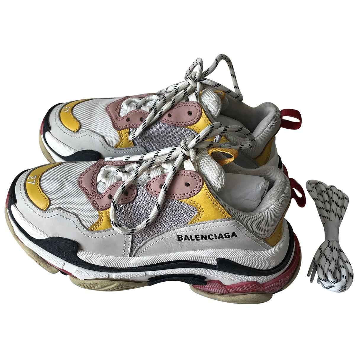 Balenciaga - Baskets Triple S pour femme en toile - multicolore
