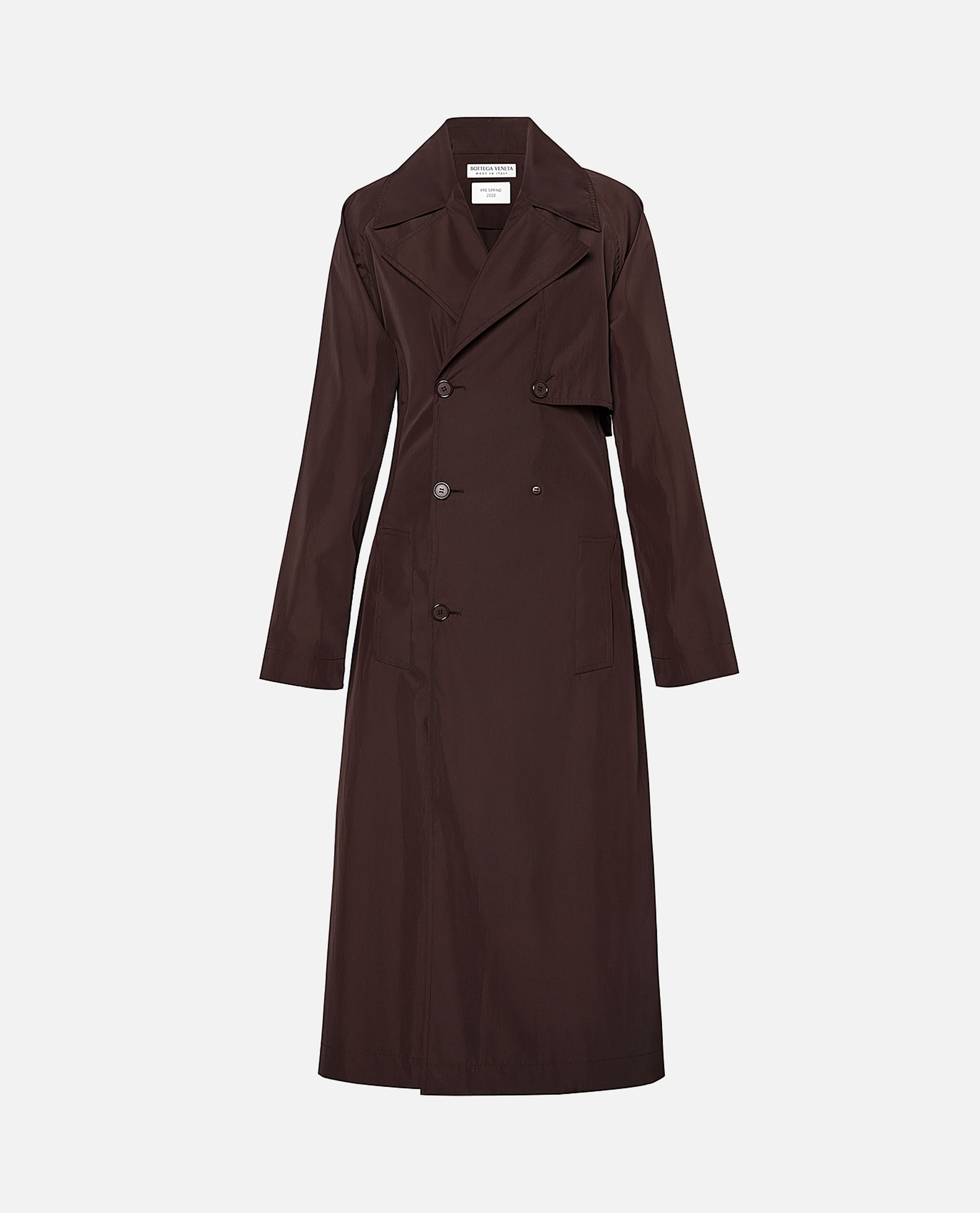 Oxblood trench coat