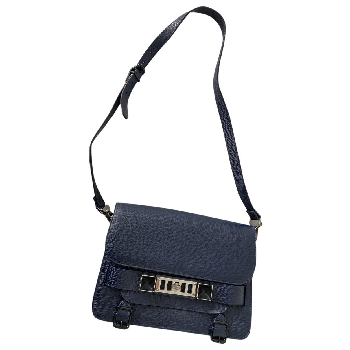 Proenza Schouler PS11 Handtasche in  Blau Leder