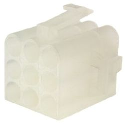 TE Connectivity , Commercial MATE-N-LOK Male Connector Housing, 6.1mm Pitch, 9 Way, 3 Row (10)