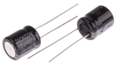 RS PRO 2.2μF Electrolytic Capacitor 450V dc, Through Hole (25)