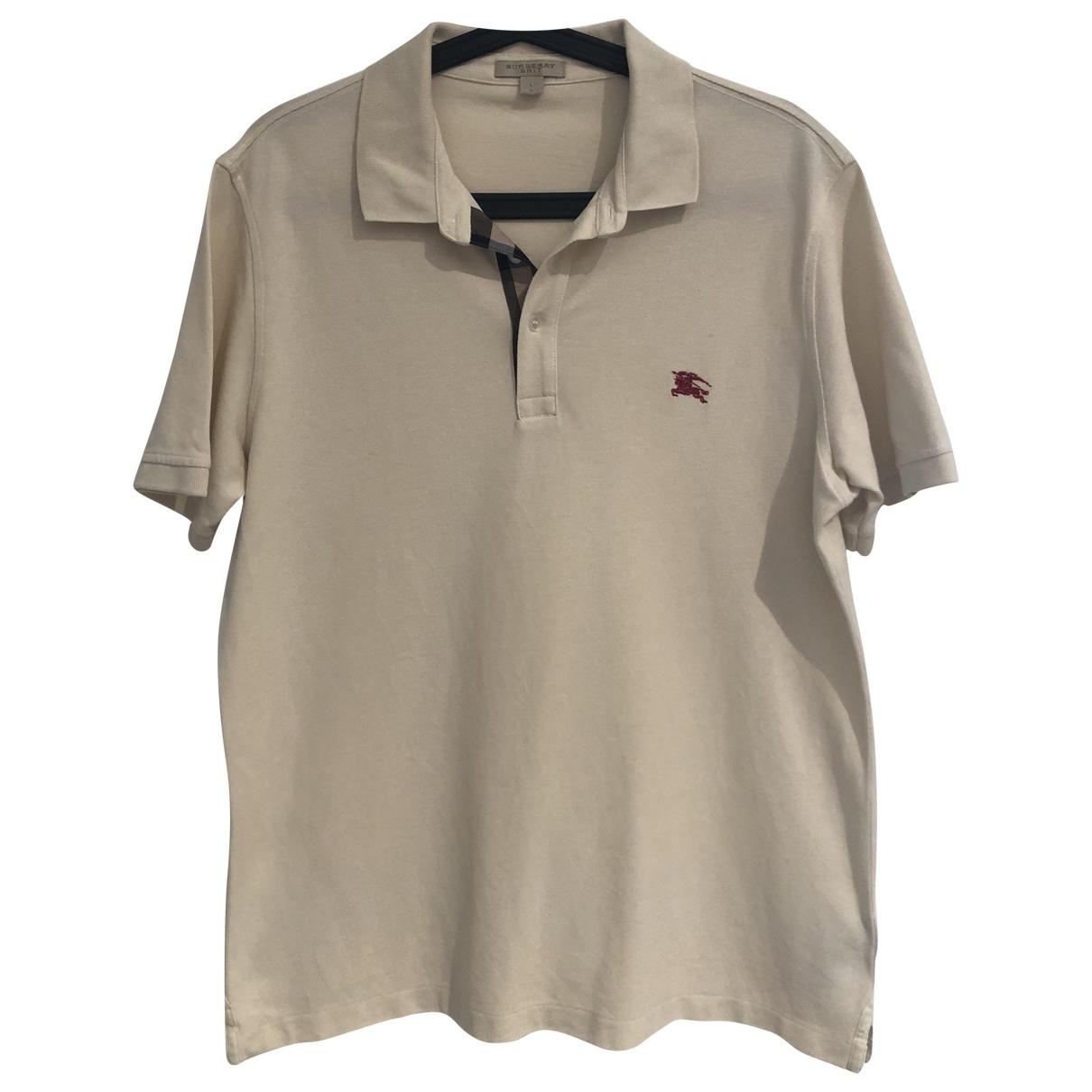 Burberry \N Beige Cotton T-shirts for Men L International
