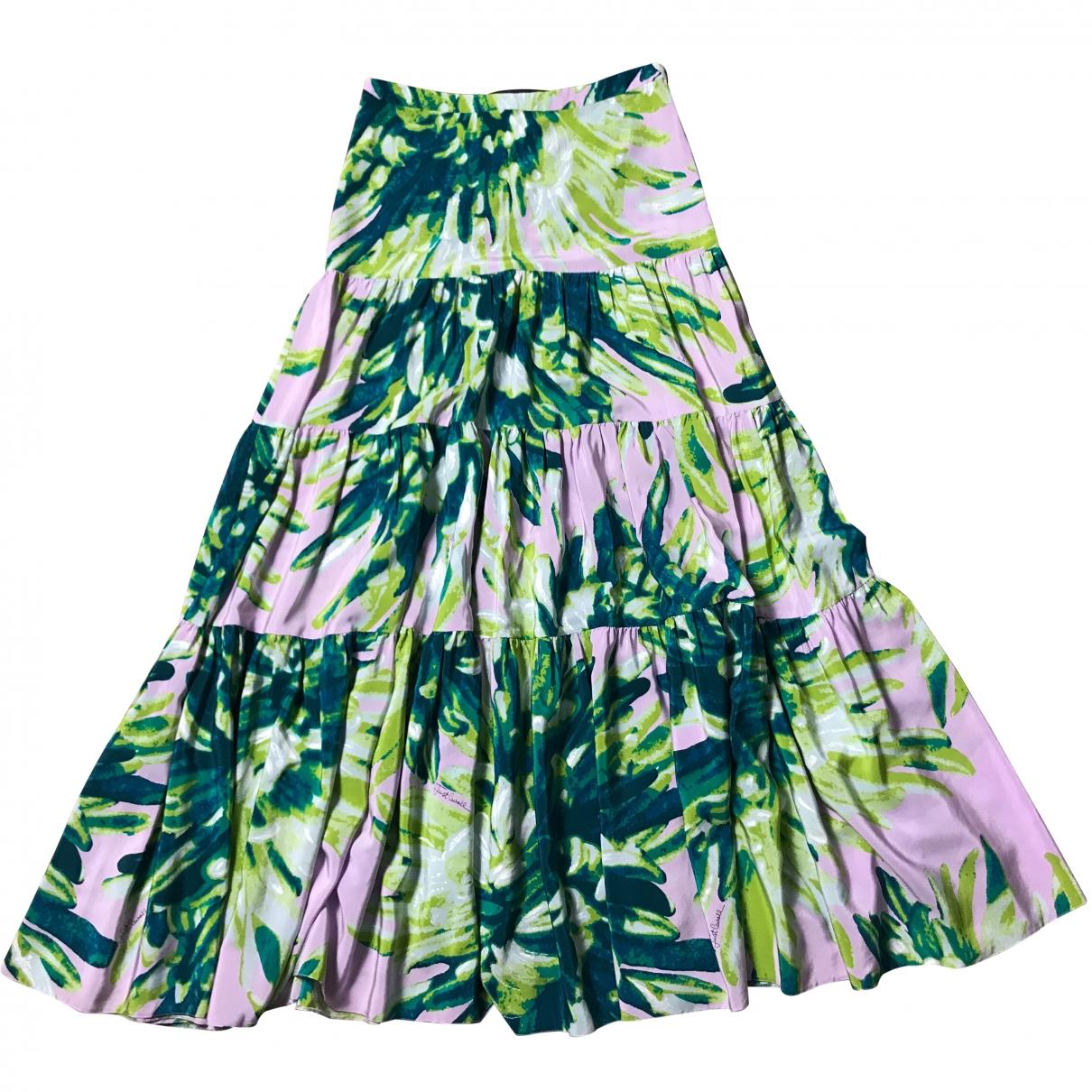 Just Cavalli \N Green Silk skirt for Women 38 IT