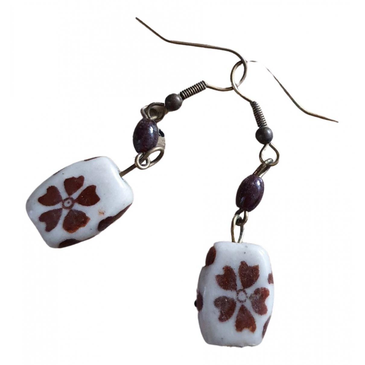 Massimo Dutti \N White Ceramic Earrings for Women \N