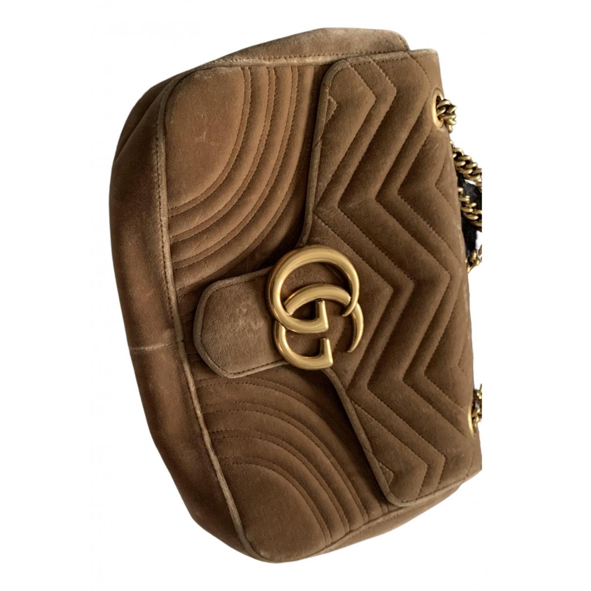 Gucci Marmont Camel Velvet handbag for Women N