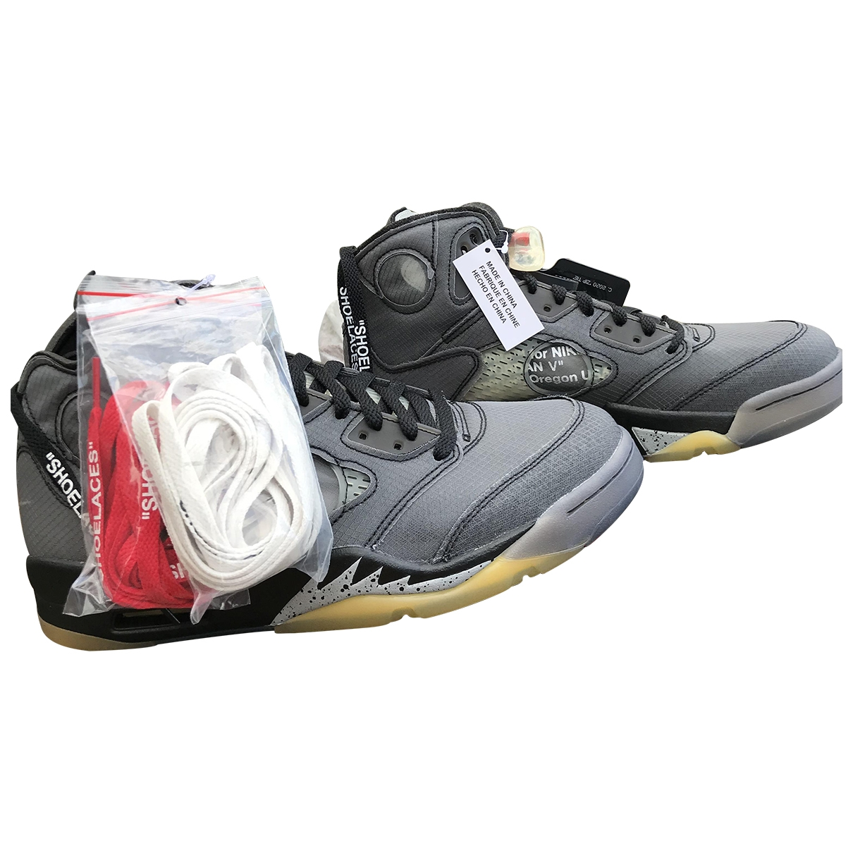 Jordan Air Jordan 5 Sneakers in  Schwarz Leder