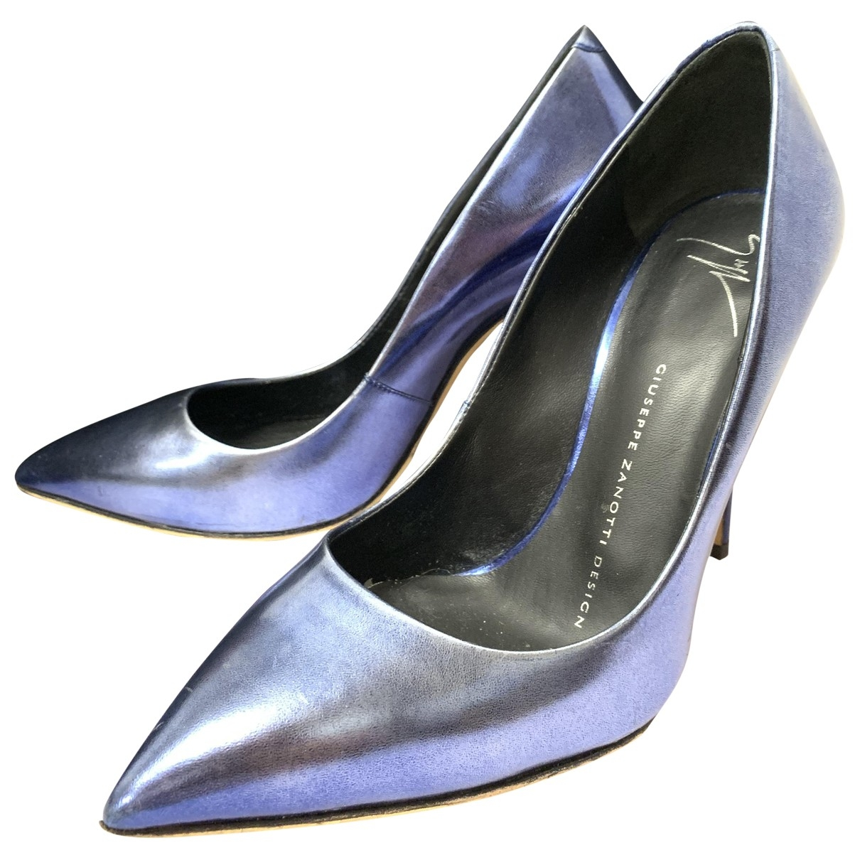 Giuseppe Zanotti - Escarpins   pour femme en cuir - bleu