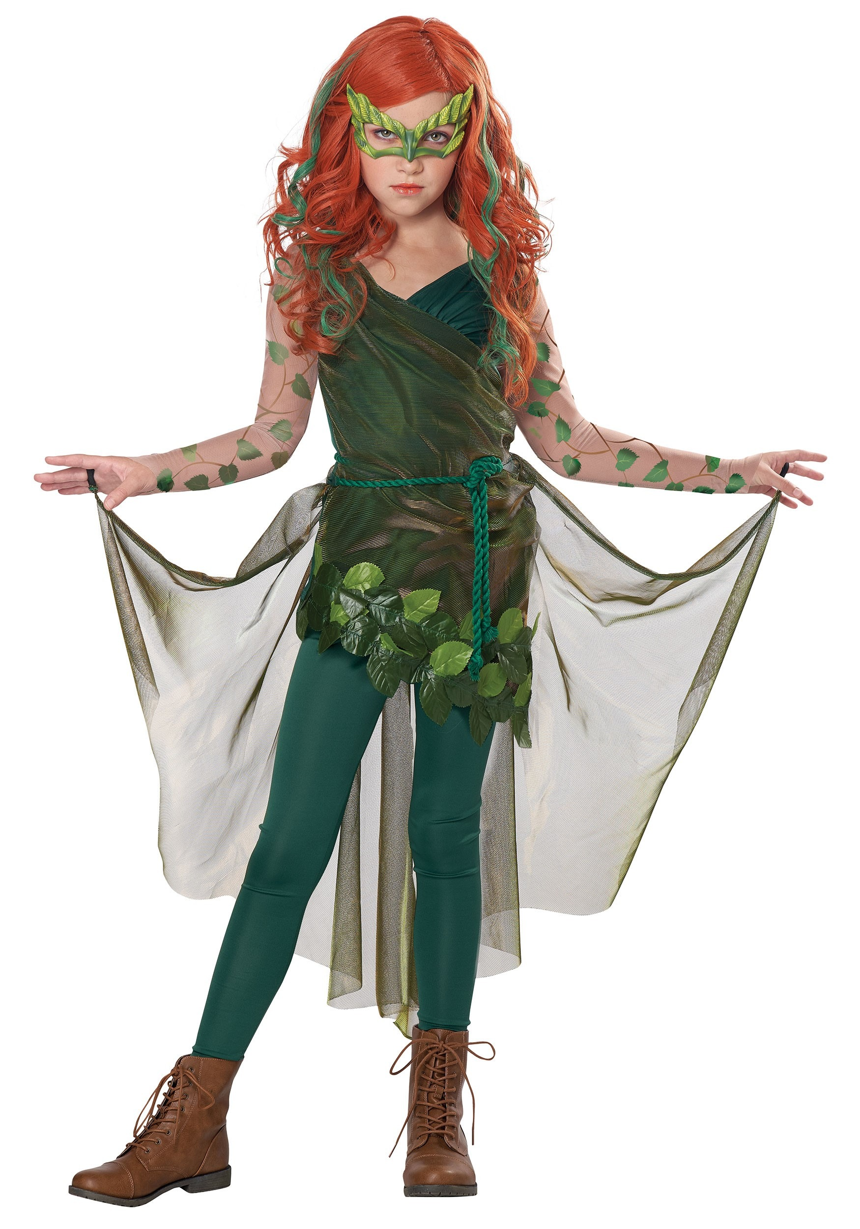 Pretty Poison Superhero Costume for Girls