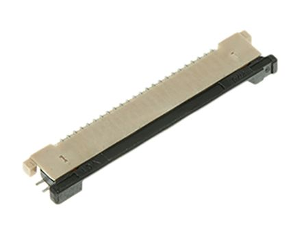 Molex Easy-On 54548 Series 0.5mm Pitch 24 Way Right Angle SMT Female FPC Connector, ZIF Bottom Contact (5)
