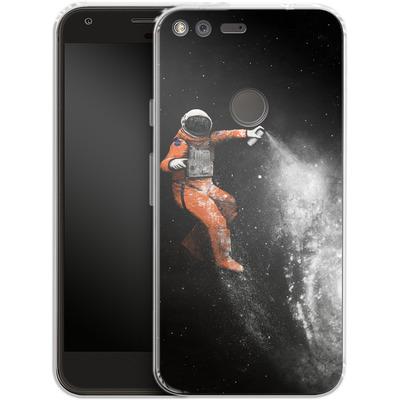 Google Pixel Silikon Handyhuelle - Space Astronaut von Florent Bodart