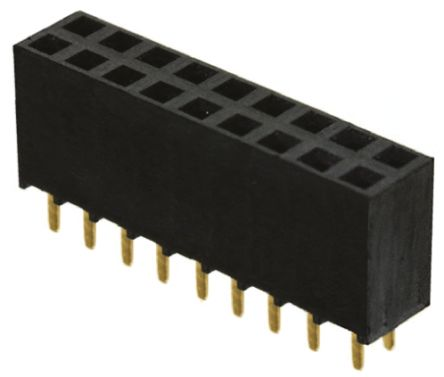Samtec , SSW 2.54mm Pitch 18 Way 2 Row Straight PCB Socket, Through Hole, Solder Termination