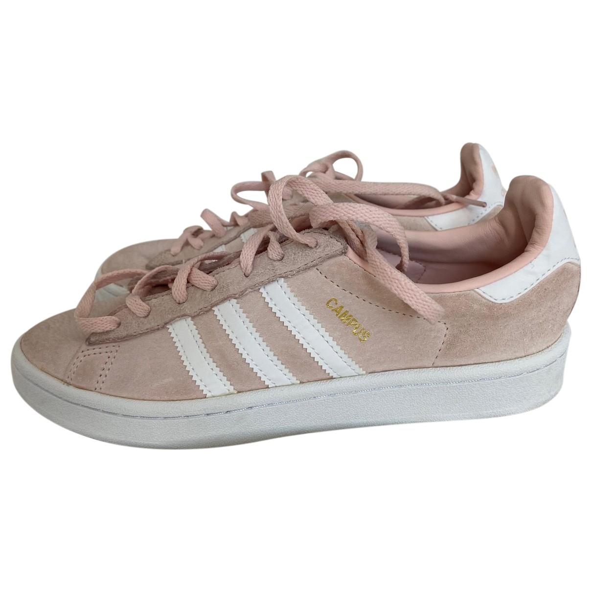 Adidas \N Sneakers in  Rosa Veloursleder