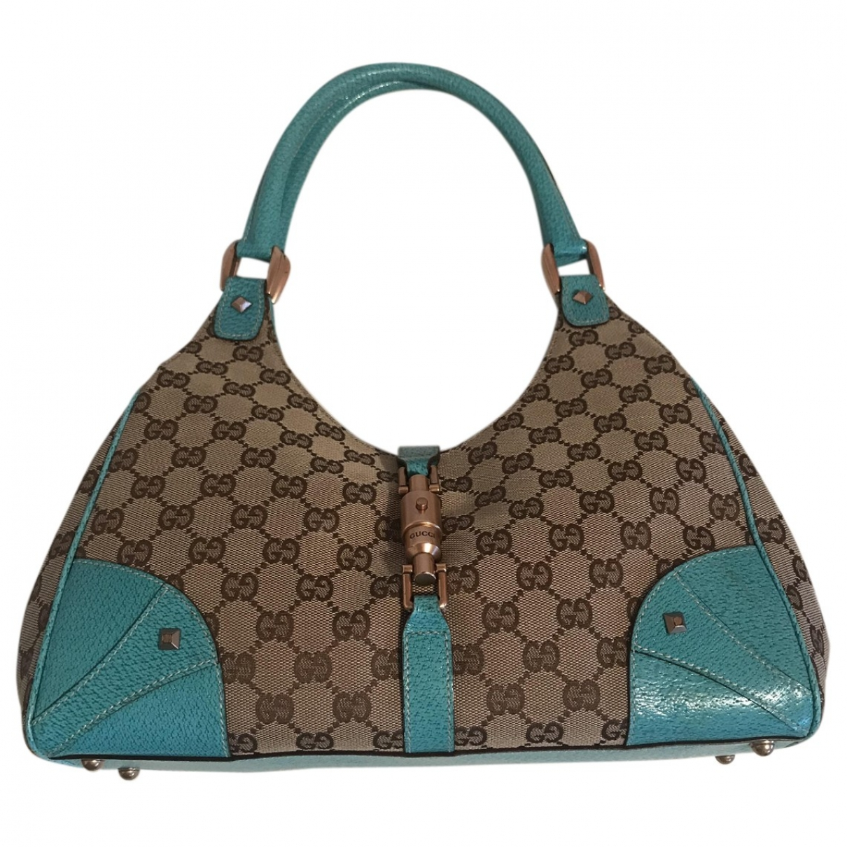 Gucci - Sac a main   pour femme en toile - turquoise