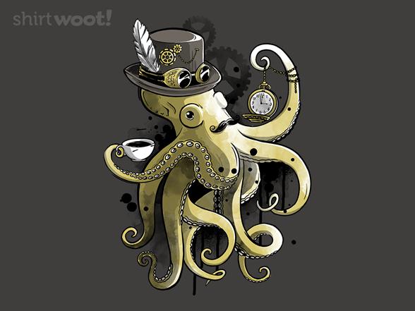 Steampunk Octopus T Shirt
