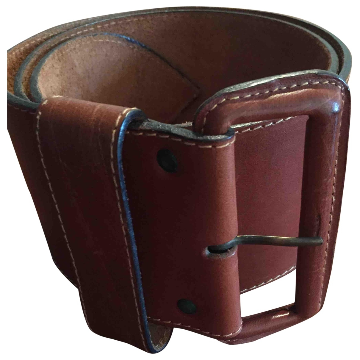 Non Signé / Unsigned \N Brown Leather belt for Women L International
