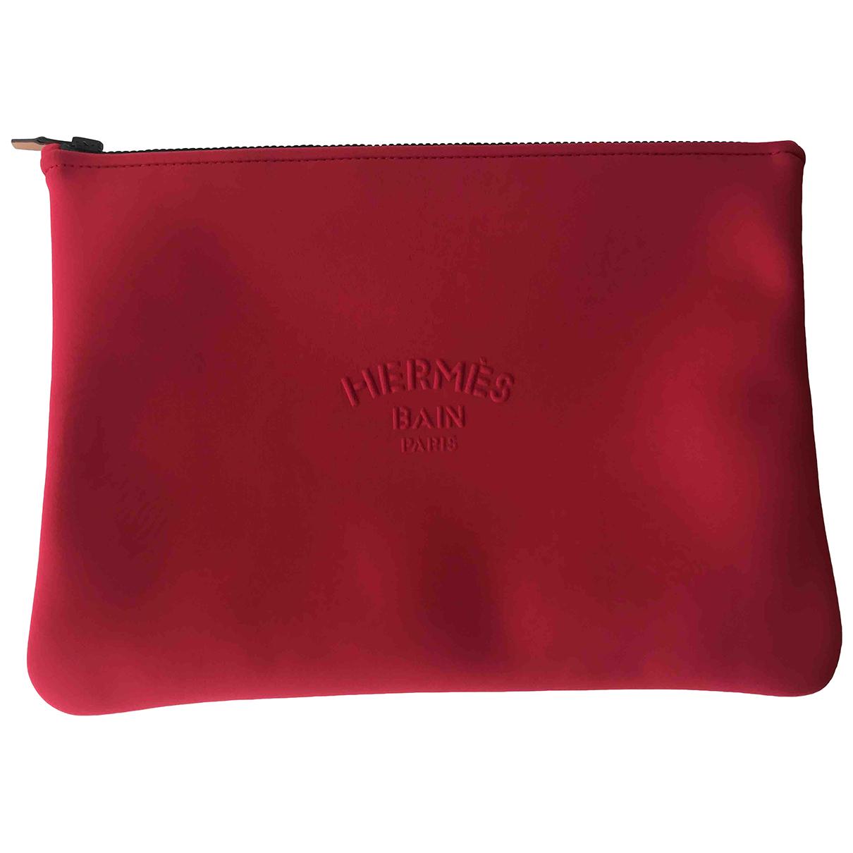 Hermès \N Red Cloth Clutch bag for Women \N