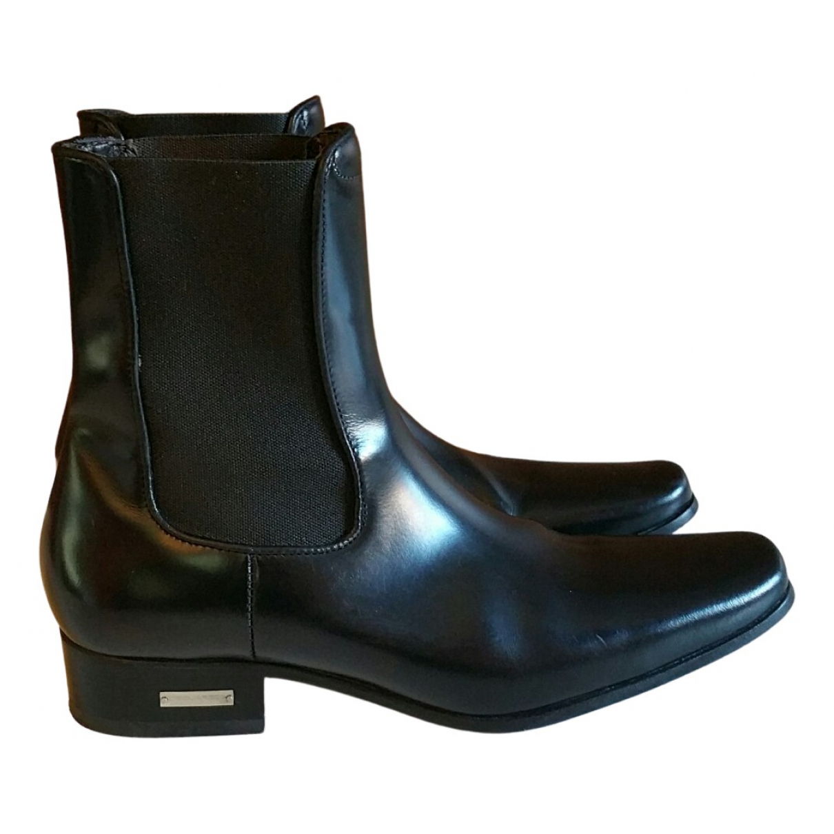 Dsquared2 N Black Leather Boots for Kids 37 FR