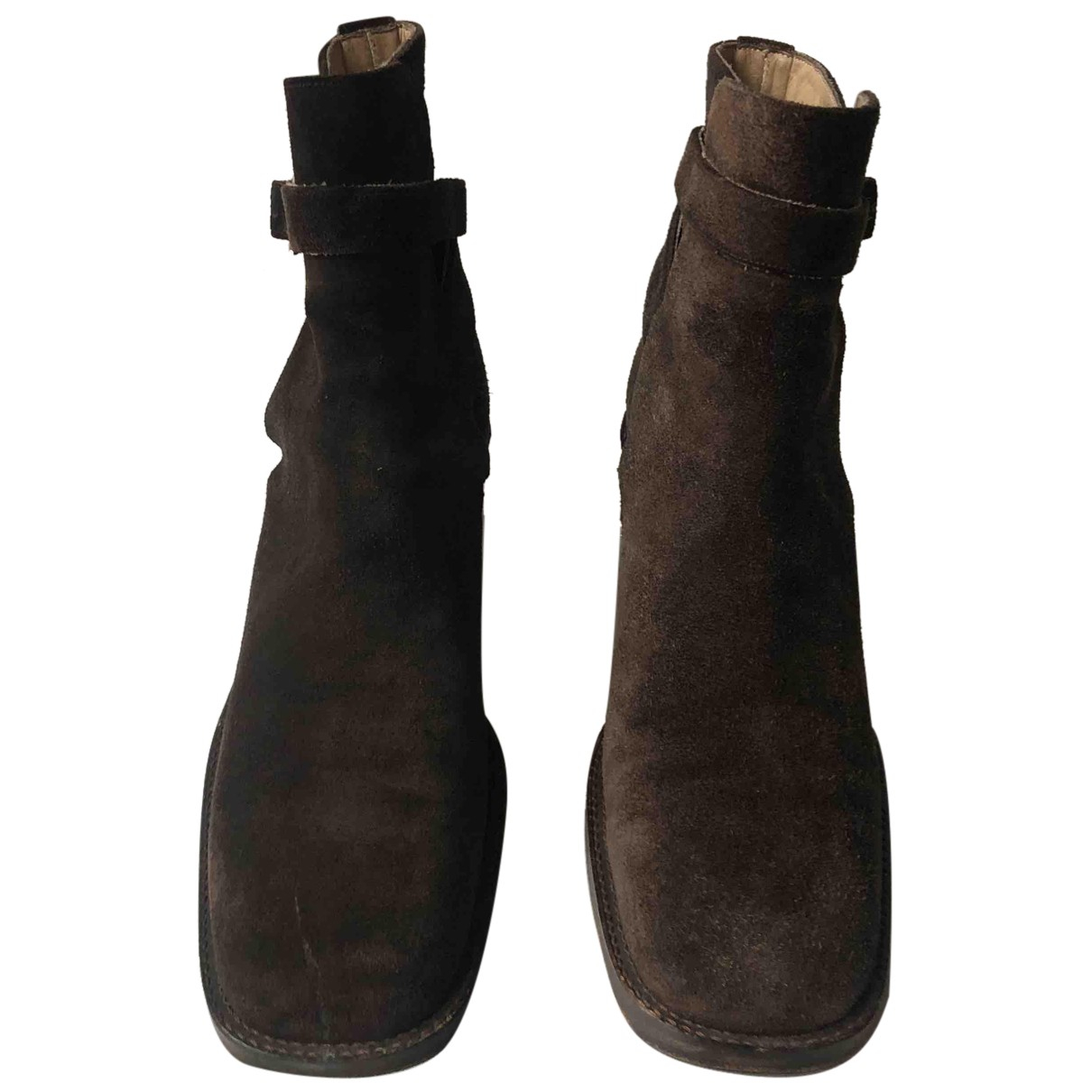 Free Lance N Brown Suede Ankle boots for Women 35.5 EU