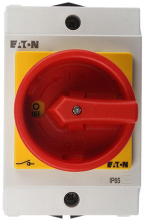 Eaton 3 Pole Enclosed Non Fused Isolator Switch - 20 A Maximum Current, 6.5 kW Power Rating, IP65