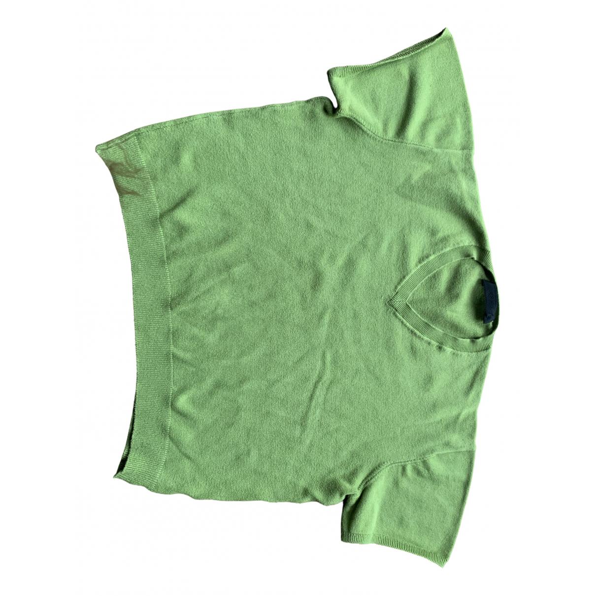 Prada - Pull   pour femme en coton - vert