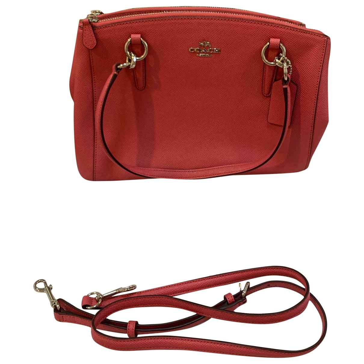 Coach Crossgrain Kitt Carry All  Pink Leather handbag for Women \N