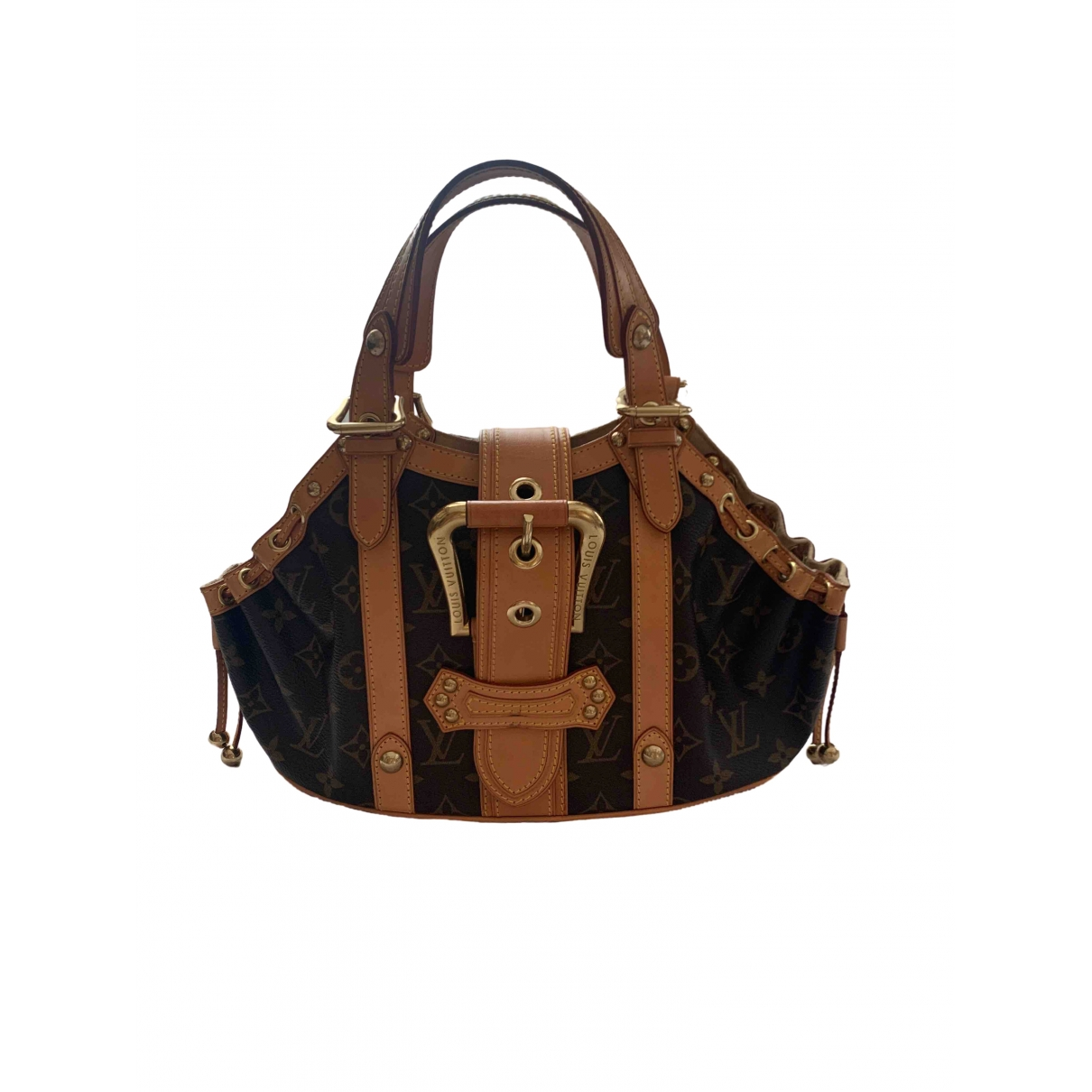 Louis Vuitton Theda Brown Cloth handbag for Women \N