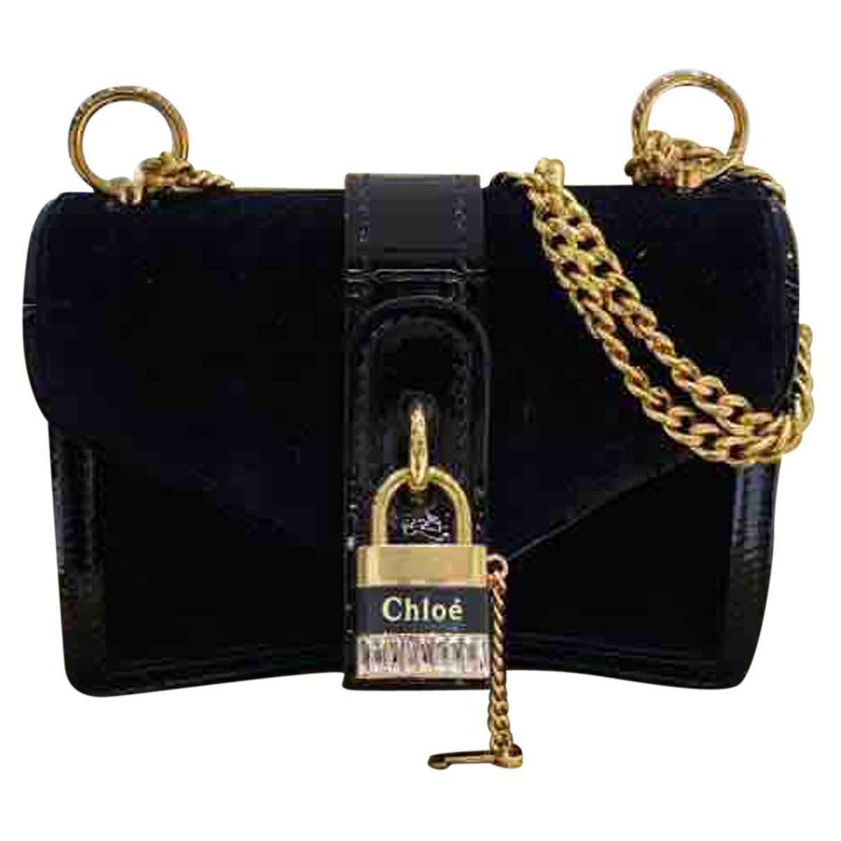 Bolsos clutch en Ante Negro Chloe