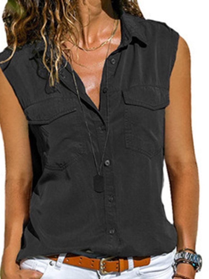 Ericdress Polyester Standard Womens Summer Tank Top