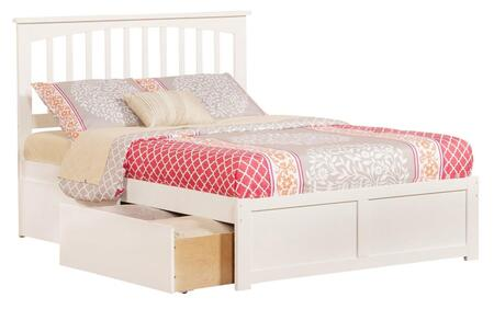 Mission Collection AR8732112 Full Size Platform Bed with 2 Urban Bed Drawers  Casters  Flat Panel Foot Board  Hardwood Slat Kit and Eco-Friendly