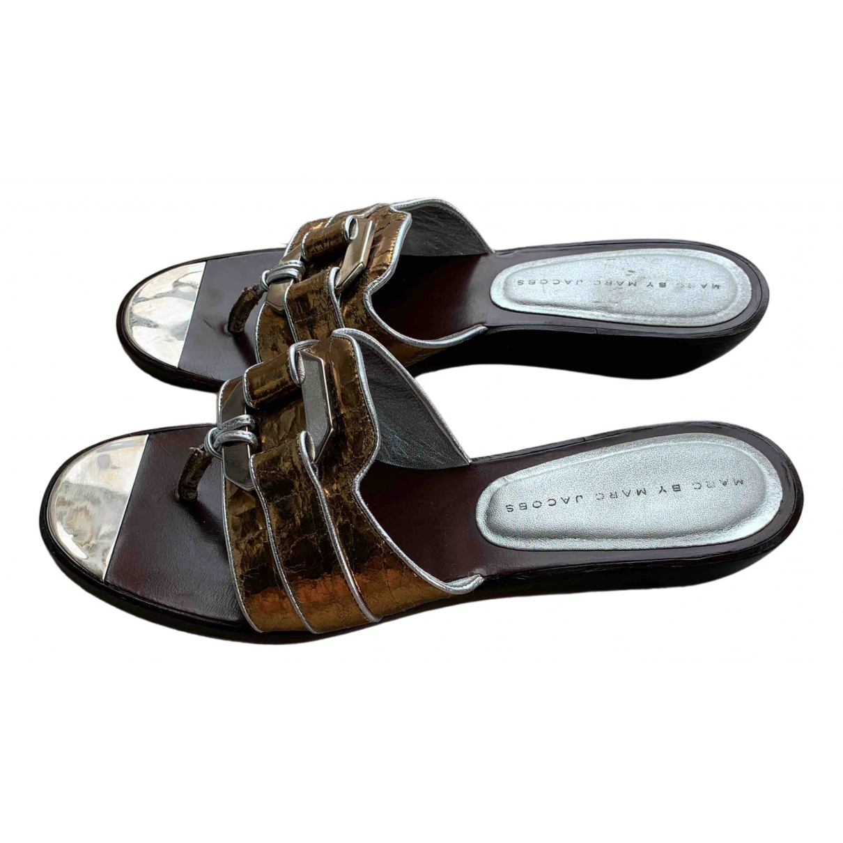 Marc By Marc Jacobs \N Sandalen in  Gold Leder