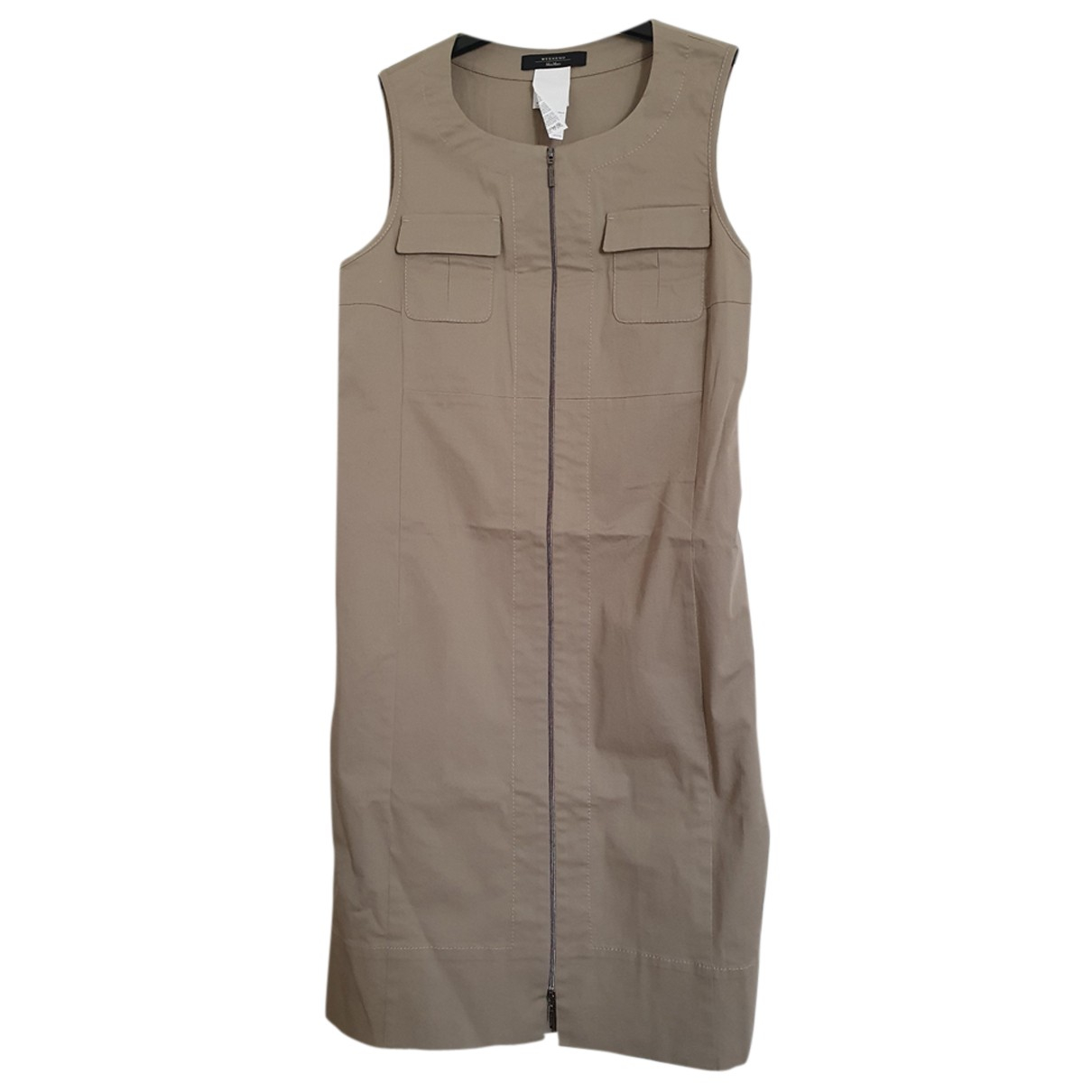 Max Mara Weekend N Khaki Cotton dress for Women 38 FR