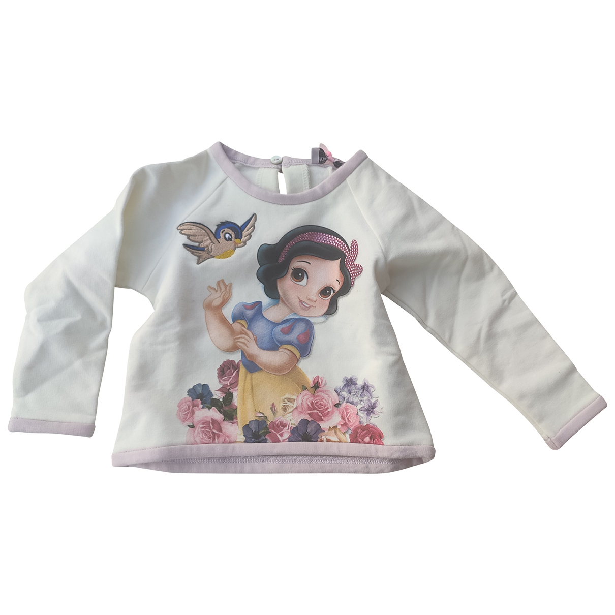 Monnalisa - Pull   pour enfant en coton - blanc