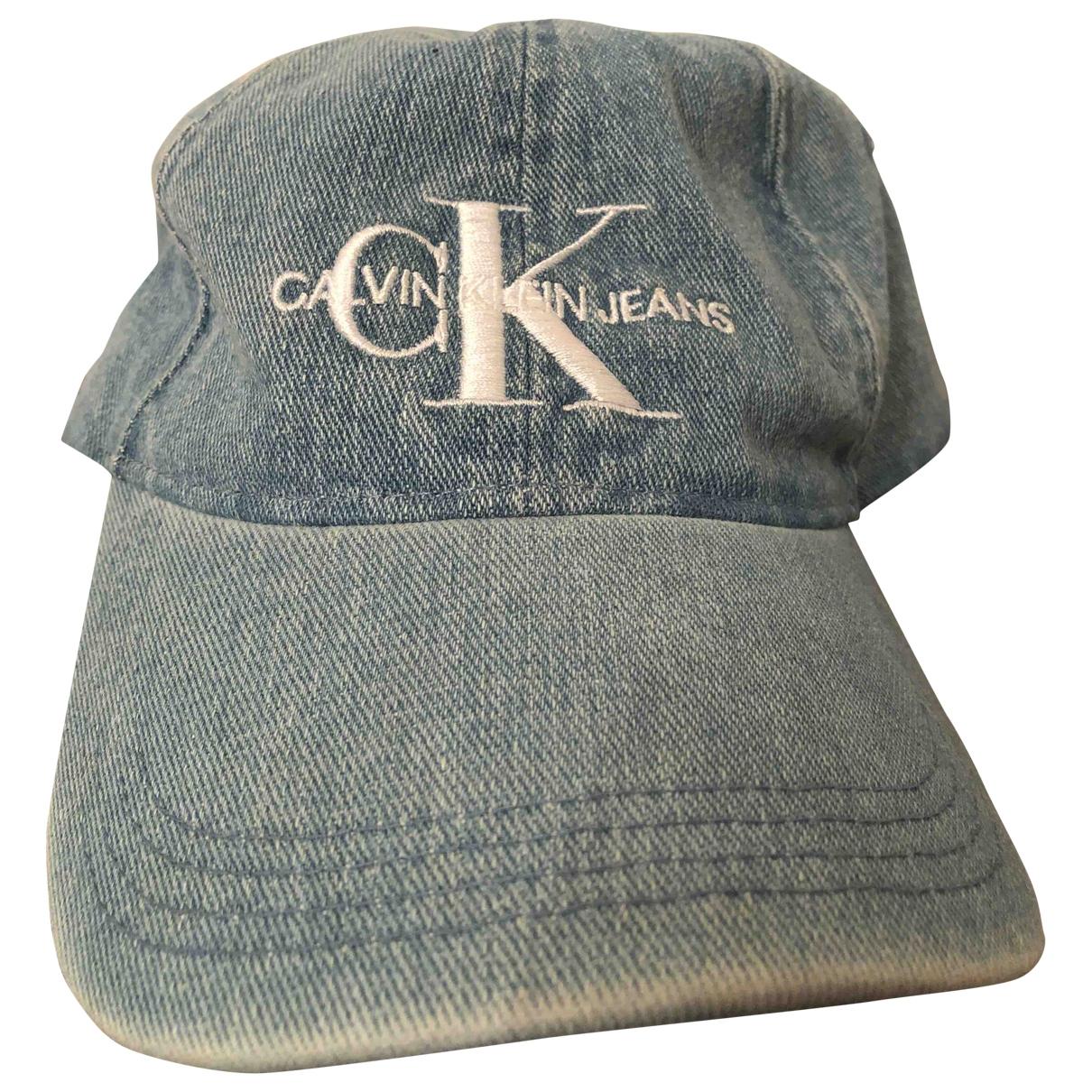Calvin Klein - Chapeau & Bonnets   pour homme en coton - bleu