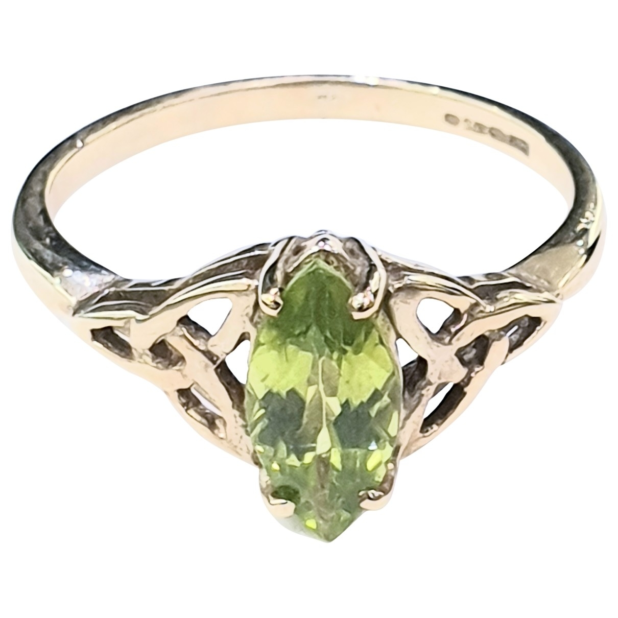 Non Signé / Unsigned \N Green Yellow gold ring for Women 6 US