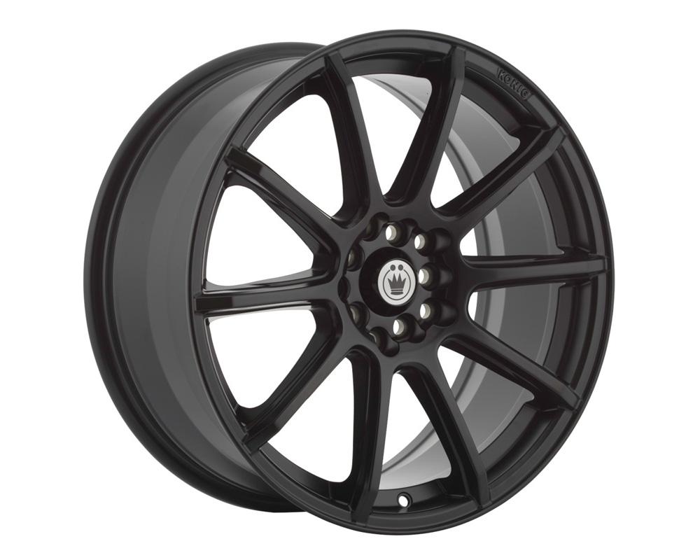 Konig Control Matte Black Wheel 16x7 5x100/114.3 40mm