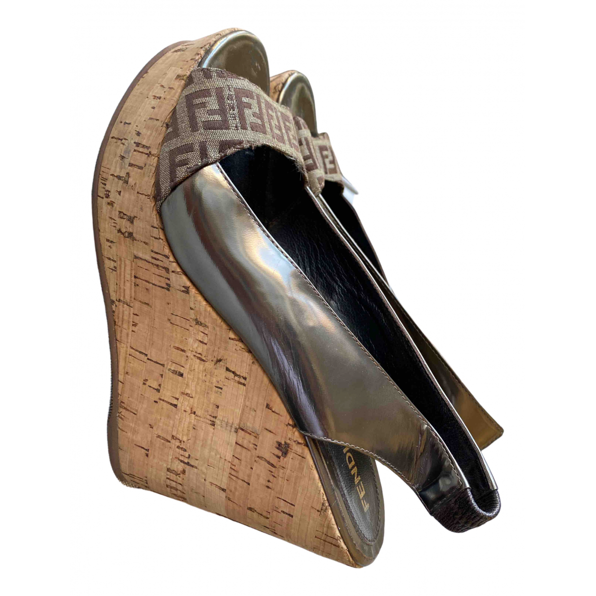 Fendi \N Khaki Leather Heels for Women 38.5 IT