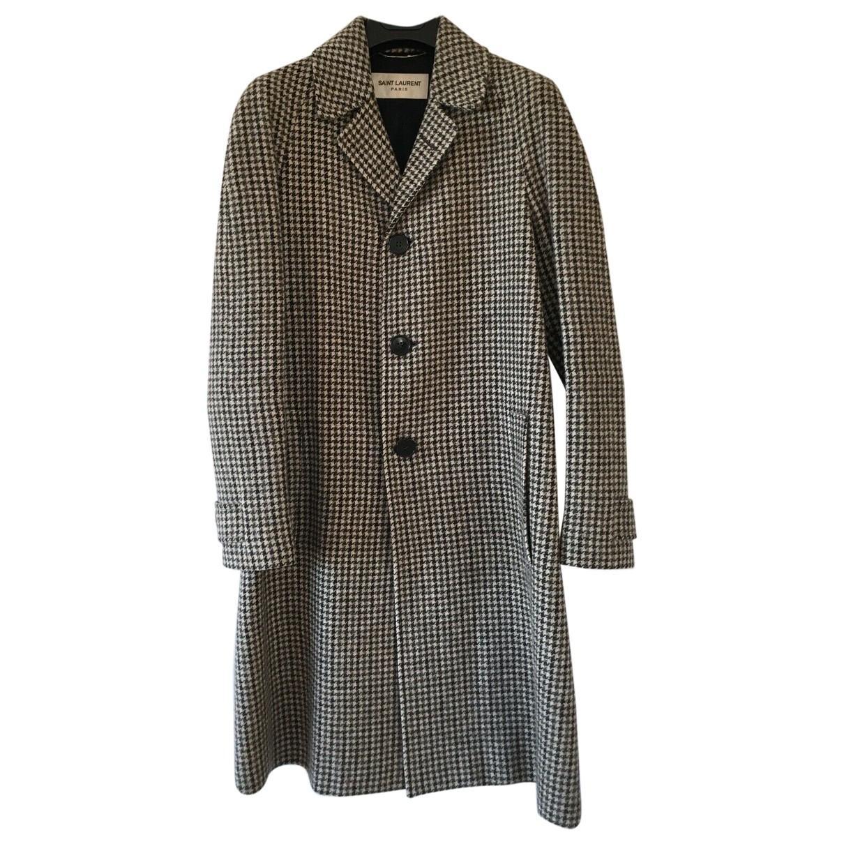 Saint Laurent - Manteau   pour femme en laine - marron