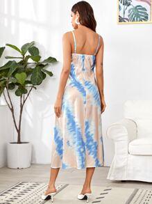 Cami Kleid mit Ruesche Detail und Batik