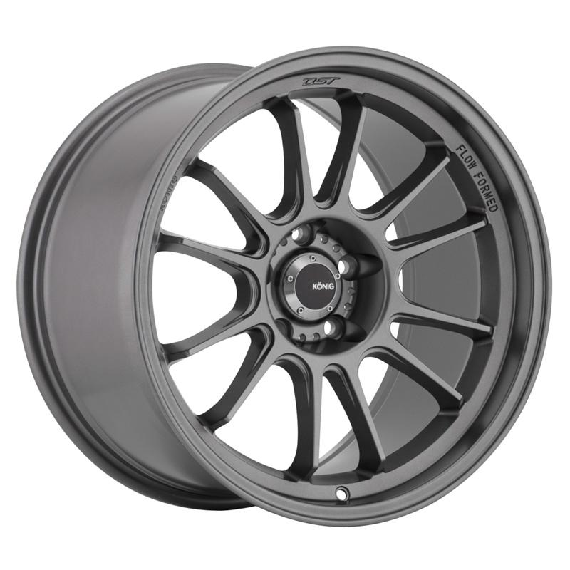 Konig Hypergram Matte Grey Wheel 17x9 4x100.0 45