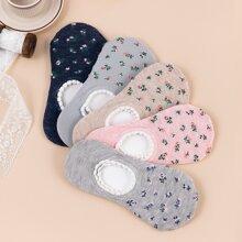 5pairs Ditsy Flower Pattern Socks