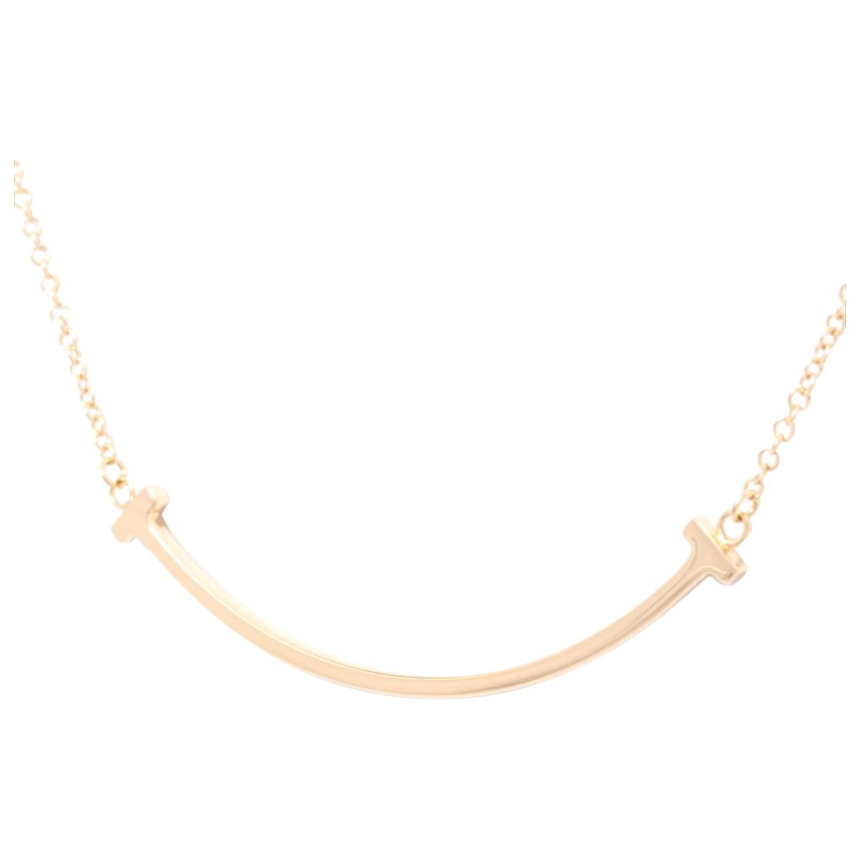 Tiffany & Co - Collier Tiffany T pour femme en or rose