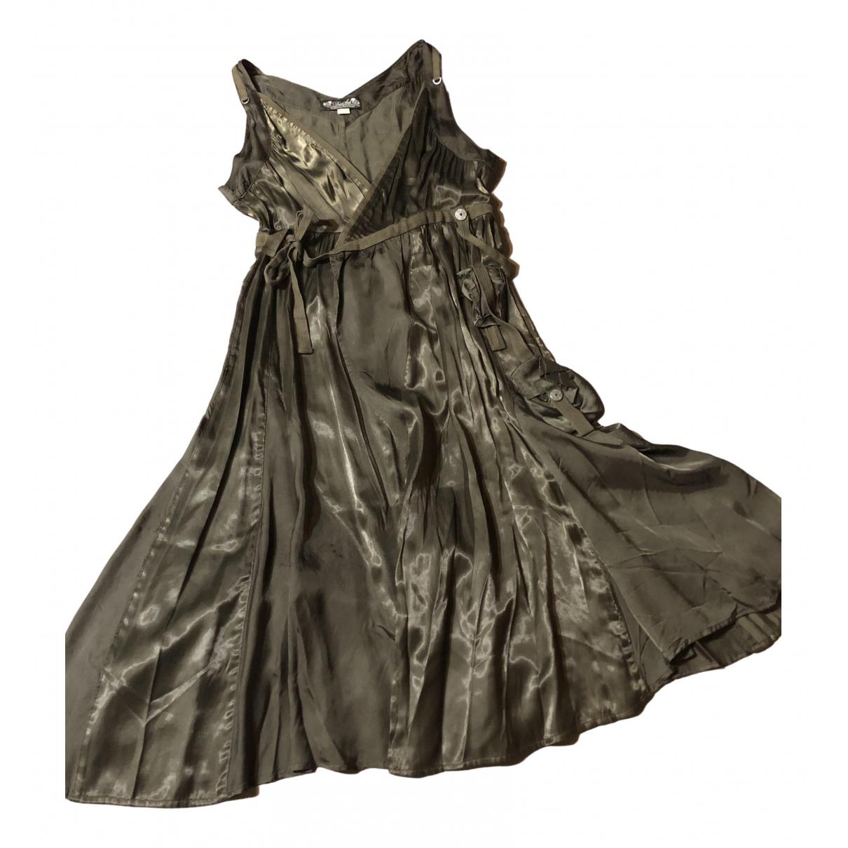 Diesel \N Kleid in  Khaki Polyester