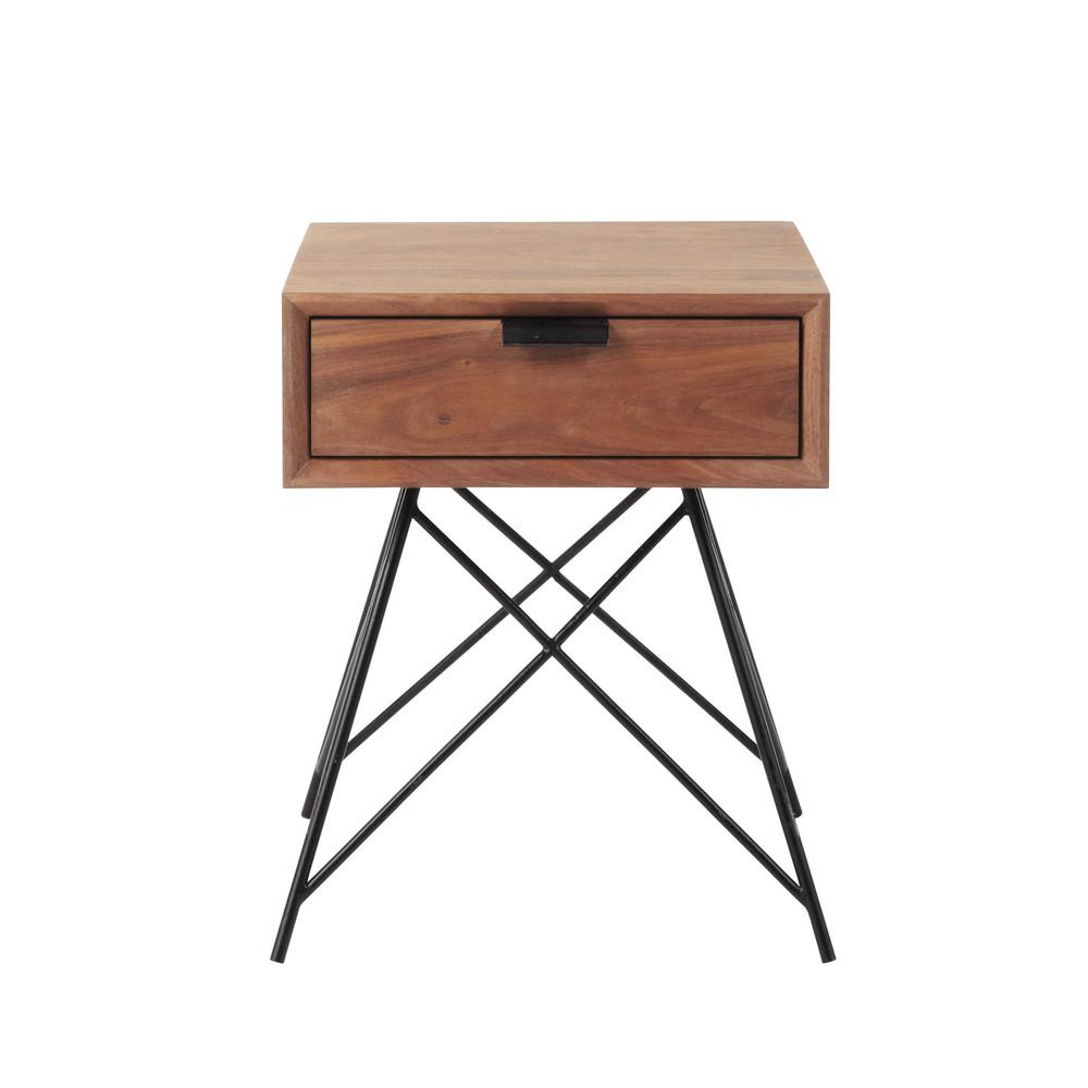 Nachttisch im Vintage-Stil mit Schublade Berkley