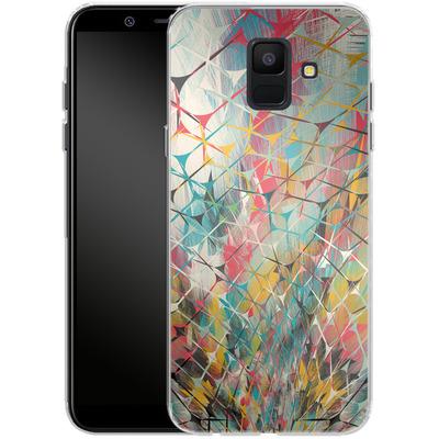 Samsung Galaxy A6 Silikon Handyhuelle - Spider Explosion von Danny Ivan