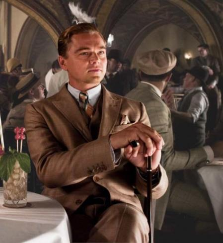 Mens Great Gatsby Leonardo Dicaprio Brown Suit